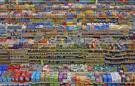 Andreas Gursky, Diptych 99 cent store II, 2001. C Print. © Andreas Gursky